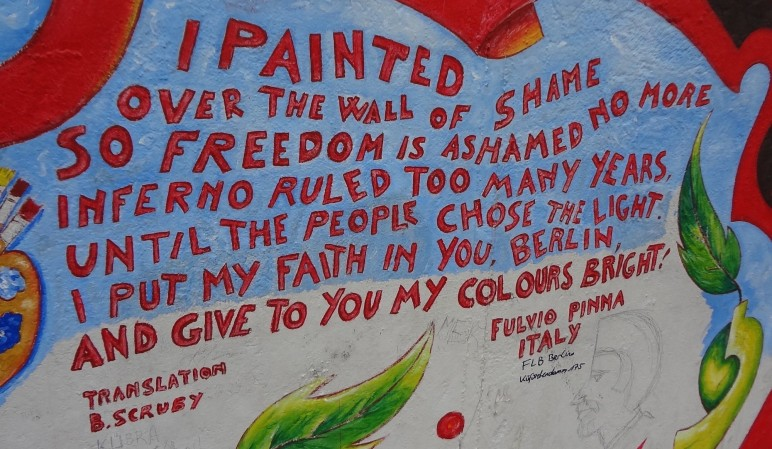 Fulvio Pinna — Ode an die Freude, East Side Gallery. Credit: Juliana Alvim.